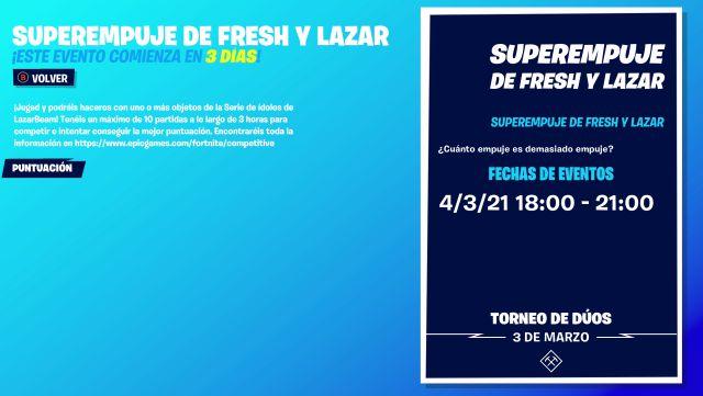 fortnite episode 2 season 5 super boost tournament lazar fresh skin lazarbream free
