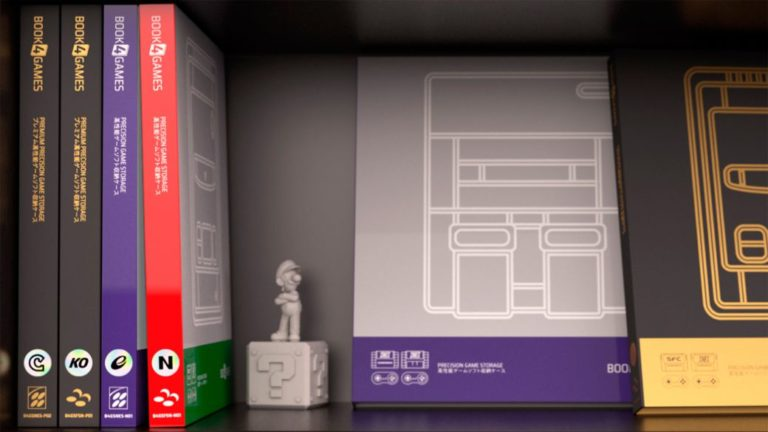 Book4Games proposes to organize Super Nintendo cartridges as books