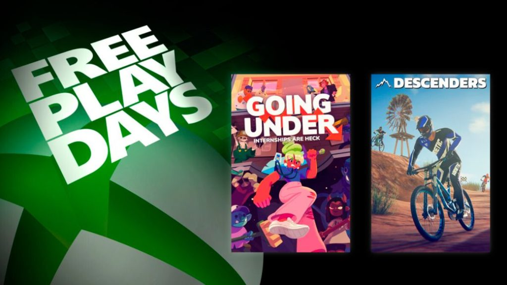 Going Under and Descenders are played for free this weekend on Xbox One with Xbox Live Gold